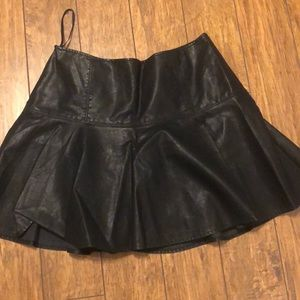 FREE PEOPLE About A Girl Vegan Leather Skirt